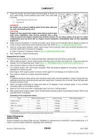 nissan 350z oil capacity nissan 350z 2007 z33 engine mechanical workshop manual