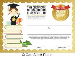 primary kids graduation diploma certificate design