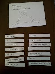 Hands on Math in High School  Made Math Geometry Proofs Hands on Math in High School Hands on Math in High School