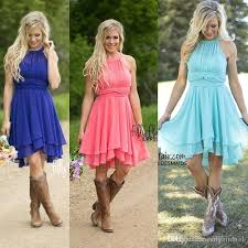 country style bridesmaid dresses only 59 country style bridesmaid dresses 2017 halter neck blue