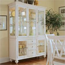 Kitchen Dish Cabinet Camden White Curio China Cabinet American Drew China Cabinets