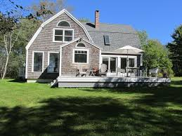 cottage style house maine waterfront rustic modern scandinavia vrbo