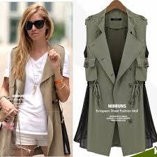 cleocat wholesale fashion safari vest jacket from cleocat