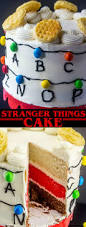 stranger things cake a fun fan filled stranger things layer cake