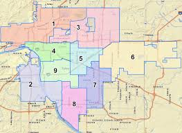 Tulsa Airport Map Tulsa Council Districts Map U2013 Selling Real Estate In Metro Tulsa