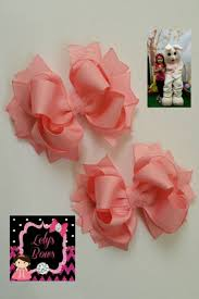 boutique hair bows set of 2 pcs 4 inch pigtails hair bows for small stacked b