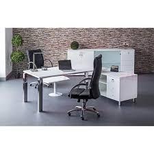 bureau retour bureau clinton stratifié blanc avec retour à gauche talos
