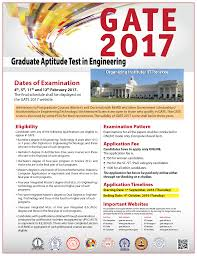 gate 2017 exam dates online application form eligibility exam