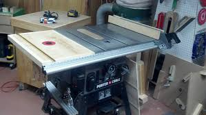 Table Saw Router Table Table Saw Extension Wing Router Table W Shop Built Lift Router
