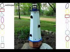 Lighthouse Garden Decor Solar Powered Motion Lighthouse Garden Mulchbed Yard Deck Outdoor