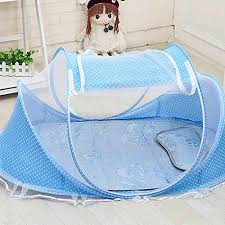 baby travel bed portable travel crib blue u2013 pop up beach tent