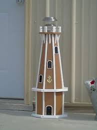 32 octagon solar powered poly lighthouse white decorative