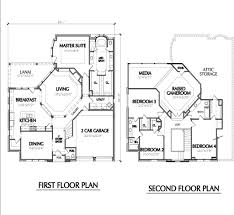two story cottage plans 665