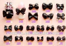 bow 3d nail art decoration