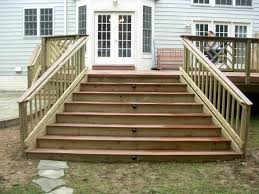 deck steps with landing these deck stairs have lights in the