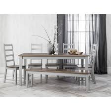 Dining Table Chairs And Bench - canterbury dining table with chairs u0026 bench in silk grey noa u0026 nani