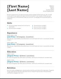 microsoft word resume template free resumes and cover letters office