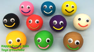 play and learn colours with play doh smiley faces with tiger
