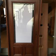 wood exterior doors with blinds between the glass nicksbuilding com