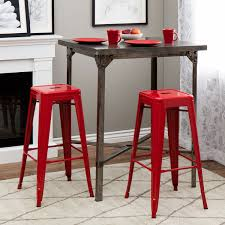Garden Bar Stool Set by Decoration In Red Metal Bar Stool Garden Bar Stool Red