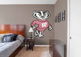 bucky badger illustrated wisconsin badgers mascot wall decal