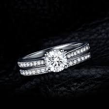 sterling silver wedding gifts 925 sterling silver wedding engagement ring sets bridal jewelry