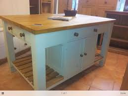 bespoke solid wood kitchen island unit with oak top from the