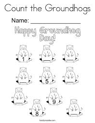 twisty noodle coloring pages count the groundhogs coloring page twisty noodle