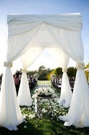 wedding ceremony canopy outdoor wedding in santa barbara california inside weddings