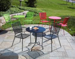 Wrought Iron Cafe Set by The Weekly Round Up Paver Patio Edition