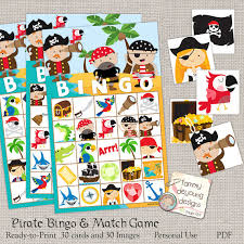 pirate bingo game printable pirate bingo cards kids game