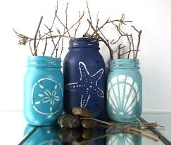 beach cottage decor mason jar decor summer party beach home