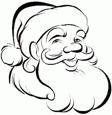 santa claus face template kids coloring