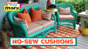 How To Cover Patio Cushions by How To No Sew Pillows And Cushions Youtube
