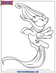 pony happy fluttershy coloring free printable