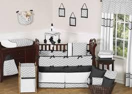 sweet jojo designs bedding sets gray and black chevron zig zag