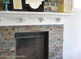 slate fireplace facing lovely painting landscape new at slate