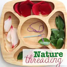 nature activities images Nature threading munchkins and moms png