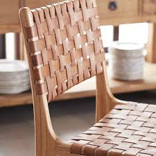 Woven Chairs Dining Woven Leather Dining Chair Wisteria