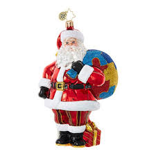 radko a of the puzzle santa autism ornament new 2017
