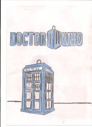 doctor who logo and tardis colored by emoforeverxxx on deviantart