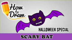how to draw a scary bat halloween special easy drawing lesson