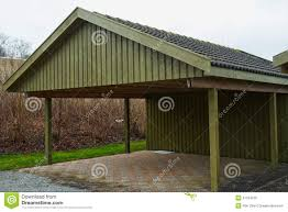 modern carport car garage parking royalty free stock photo image