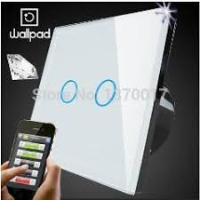 Touch Light Control Eu Wallpad White Led 2 Gangs Crystal Glasstouch Wifi Light Switch