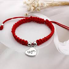 woven bracelet with cross images Red thread rope bracelet sideway cross karma eye woven bracelet jpg