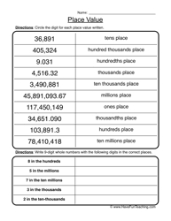 place value in expanded form place value standard expanded notation worksheet 2