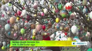 german easter decorations german decorate tree with 10 000 easter eggs