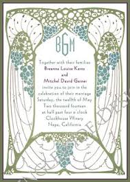 art nouveau wedding invitations wedding ideas