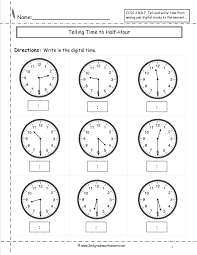 second grade time worksheets telling and writing time worksheets