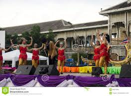 thai people sing folk song and country music with dance local th